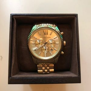 Authentic Gold MK Watch